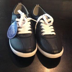 NEW 6.5 Black Leather Ortholite Keds Tennis Shoes